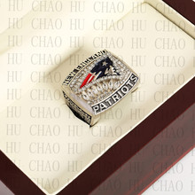 Team Logo wooden Case 2011 New England Patriots AFC Football world Championship Ring 10-13 size solid back(China)