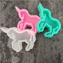 Kitchen Tools New Christmas Home Horse Decoration Silicone Moulds As Chocolete Fondant Cake Molds For Cookie Soap Baking Tools(China)