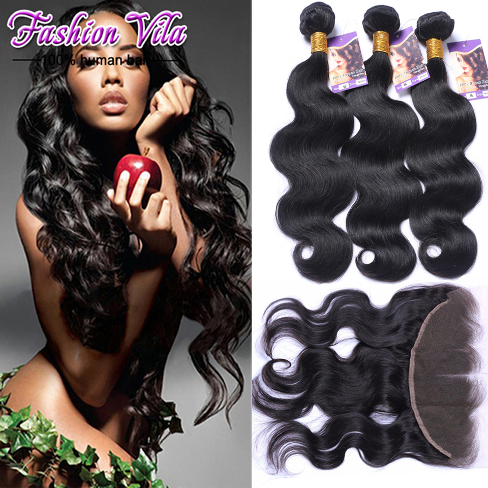 Peruvian Body Wave With Frontal Unprocessed Human Hair Bundles With Frontal Sexy Formula Hair With Frontal tissage avec closure<br><br>Aliexpress