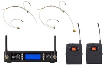 Dual Channel Wireless Headset Headworn Microphone Professional UHF Wireless Microphone(China)