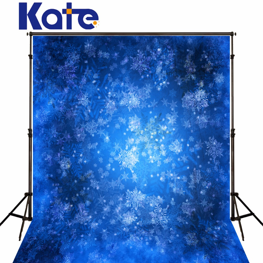 5X7Ft Kate Christmas Photo Background Snowflake Blue Backdrop For Newborn Christmas Backgrounds For Photo Studio<br>