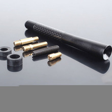 100% Brand New Hot 12V 0.1A Aluminum Carbon Fiber Car AM/FM Radio Aerial Antenna Screws
