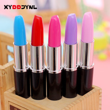 XYDDJYNL Cute Kawaii Simulation Modeling Lipstick Ballpoint Pen Ball Point Pens for Writing Stationery School Office Supplies