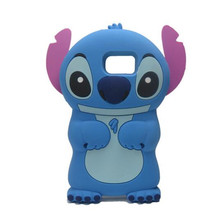 3D Cute Cartoon Stitch Soft Silicone Case For Samsung Galaxy S2 S3 S4 Mini S5 S6 S7 Edge Phone Cases Cover Fundas Coque Capa(China)