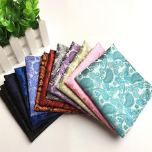 Factory Men's Paisley Floral Silk Handkerchief Blue Purple Red Pocket Square Vintage Men Fashion Hanky Wedding Party Chest Towel(China)