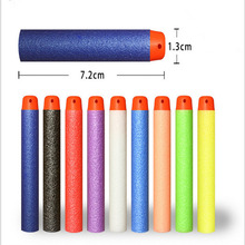 100Pcs Multicolor 7.2CM EVA Soft Hollow Hole Head Refill Darts Toy Gun Bullets for Nerf Series Blasters Kids Birthday Gifts(China)