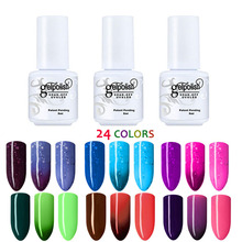 MEIKSAY 5ml UV Gel Nail Polish 3D Choosing 24 Color Gel Nail Polishes Thermo Gel Coatings Change Color