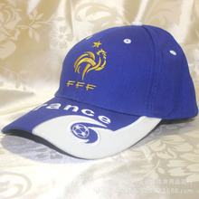 France National football Team Badge Embroidery football Cap Sports Soccer Hat for Men Women Size adjustable football Peaked cap