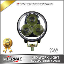 20pcs 9W 3x3 round led fog lamp 4x4 automotive car motorcycle ATV UTV SUV truck tractor trailer back up work light(China)