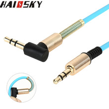 HAISSKY 1M 3.5mm to 3.5 mm Jack Male to Male Universal Stereo AUX Audio Cable For iPad iPhone Phone Car Speaker Headphone MP3(China)