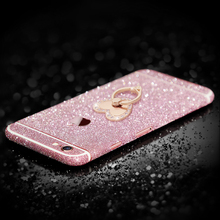 GKK NEW litter Flash Diamond Mobile Phone Sticker Prevent Scratches For iPhone 6 6s Plus Phone Stickers Fashion 6 S Skins(China)