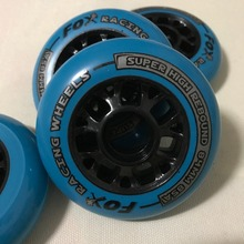4 Piece Quality 85A Pu speed inline skates Wheels 84mm High Rebound roller Skates Race wheels Wear-Resisting speed rodas patines(China)