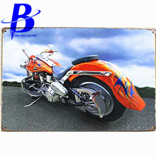 Colour Motorcycle Vintage Metal Tin Signs Retro Tin Plate Sign Wall Decoration for Cafe Bar Shop and Restaurant