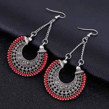 FAMSHIN 2017 Fashion Boho Long Drop Earrings For Women Jewelry Vintage Silver Earrings Power Bohemian Rope Wrap Earrings(China)