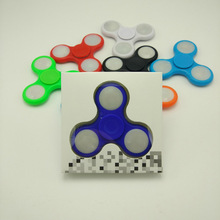 Newest LED Lamp Finger Spinner Night Light Fidget Toy EDC Hand Spinner For ADHD and Autism Stress Relief Focus Anxiety Kids Gift