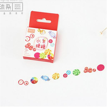 1pc Cartoon Candy Washi Tape Rainbow Candy Masking Tape Design Tape Memo Sticker Tape Scrapbook Sticker 15mm*7m