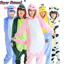 Adult Animal Giraffe Blue Stitch Kitty Cat Totoro Pink Pig Unicorn Pikachu Panda Cat Cow Tiger Animal Pajamas Onesies Kiguruma