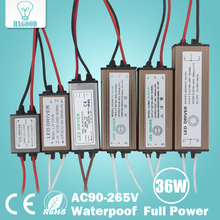 Waterproof 1-3W 4-7W 8-12W 12-18W 18-24W 25-36W LED Light Driver LED Transformer Power Supply Adapter for Led Lamp Led Chip