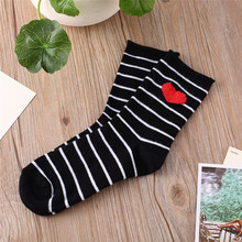 Buy Fashion Cartoon Socks 2107 New Women Elastic Cute 3D Heart Shaped Striped Warm Cotton Socks Lady Floor meias Socks Female for $1.44 in AliExpress store
