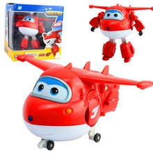 NEW Arrival Big 15cm ABS Super Wings Deformation Airplane Robot Transformation Action Figures Toys for Children Gift Brinquedos