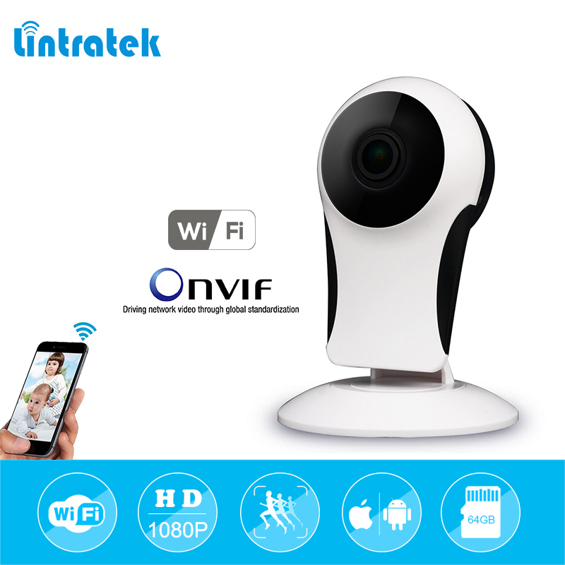 lintratek 180 angle Wireless Wifi IP Network Security Camera 720P/1080P HD P2P CCTV Home Surveillance Camera Indoor Baby Monitor<br>