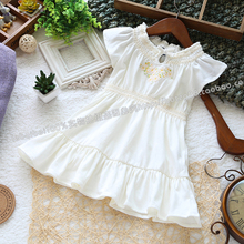 Free shipping Retail 2013 new summer baby clothing girl dresses children short-sleeve casual dress baby girl princess dress(China)