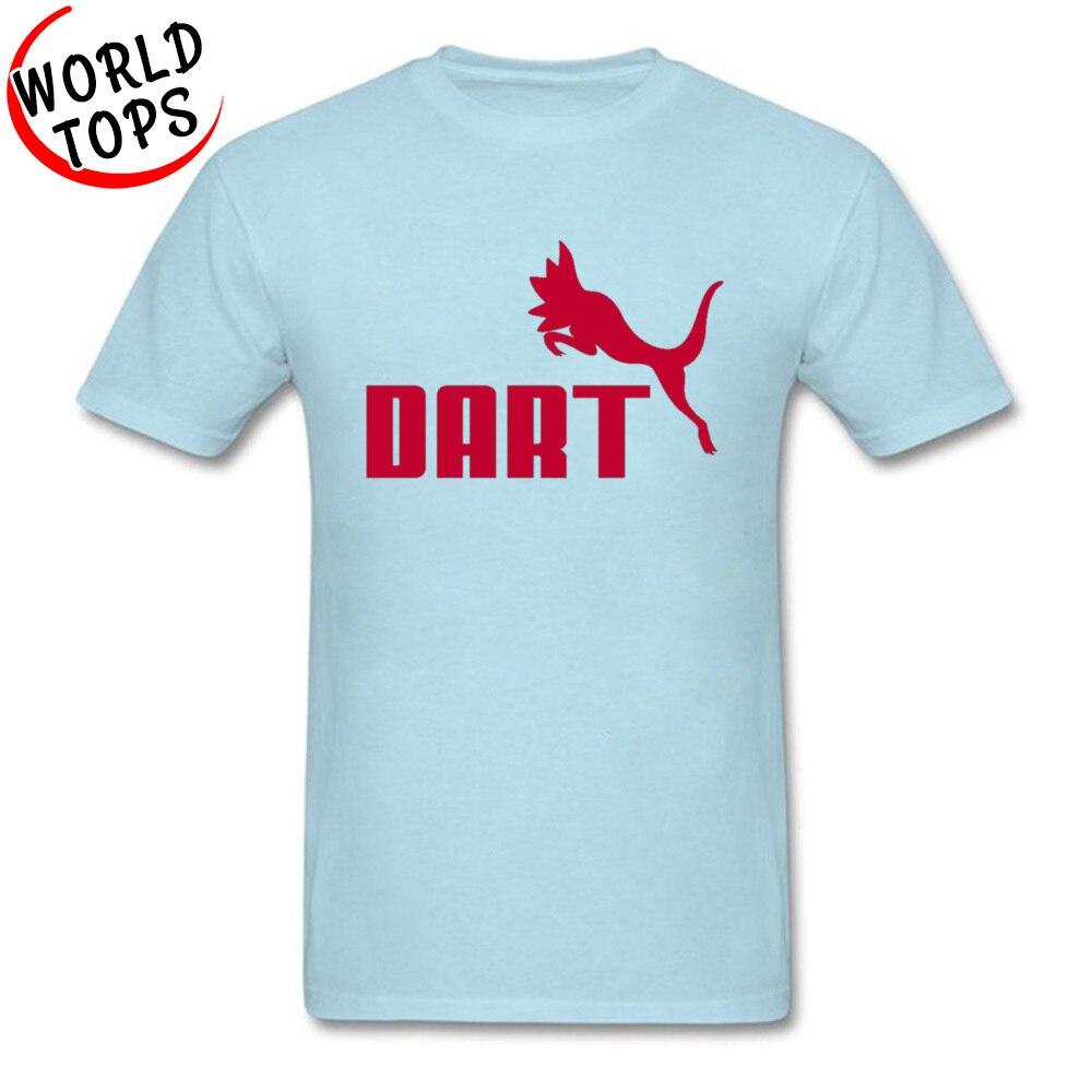 All Cotton Men Short Sleeve DART T-shirts Europe Tops Tees Family Printing Round Neck Tops Shirt Wholesale DART light