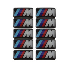 10pcs M-TECH ///M Symbol Car Auto Grill Steering Wheel Emblem Badge Stickers for BMW M3 M5 M6 Universal(China)