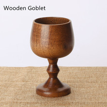 2017 Top Sale Fashion Wooden Cups Wine Goblet Pure Natural Wooden Water Cup Beer Goblet Coffee Cup 5 oz Beer Cup New Design