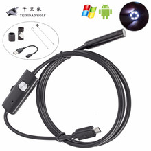 TRINIDAD WOLF 5.5mm Lens 6 LED Android USB Waterproof Endoscope Android Camera Borescope Inspection Camera With 1M 2M 3.5M 5M