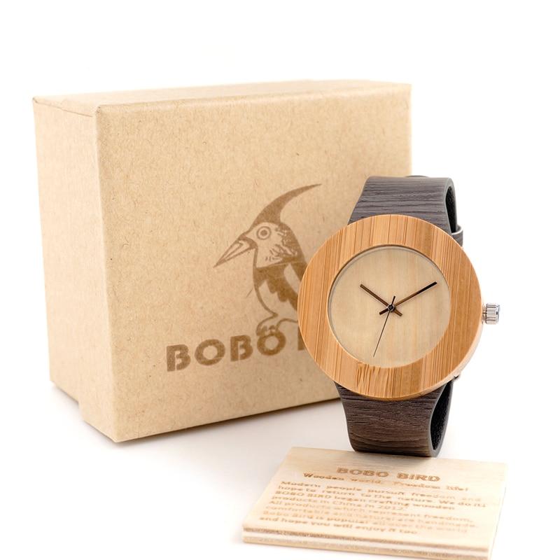 BOBO BIRD Cylinder Wooden Wristwatch Cheap Mens Watch Japan 2035 Movement Quartz Clock with PU strap relojes mujer 2016<br><br>Aliexpress