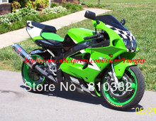 Full Set white green Fairing  for 1996 2003 KAWASAKI Ninja ZX7R 96-03 ZX-7R 1996-2003 ZX 7R 96 97 98 99 00 01 02 03