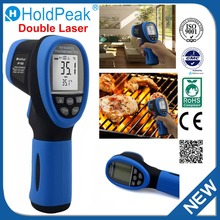 Double Laser HoldPeak HP-1500 Digital Infrared Thermometer Non Contact Temperature Gun Laser Termometro Pistola