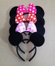 wholesale kids Minnie mouse ears  Headband boy girl birthday Party Supplies cosplay headwear , children Hair accessories