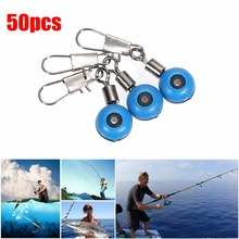 50pcs/pack Fishing Line to Hook Swivels Shank Clip Connector Interlock Snap Sea Space Bean Lure(China)