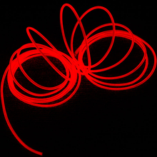 Hot Sale 10 Colors Flexible For 2M 3M 5M EL Wire Rope Tube Neon Cold Light Glow Party Car Strip Light Decoration With  Inverter