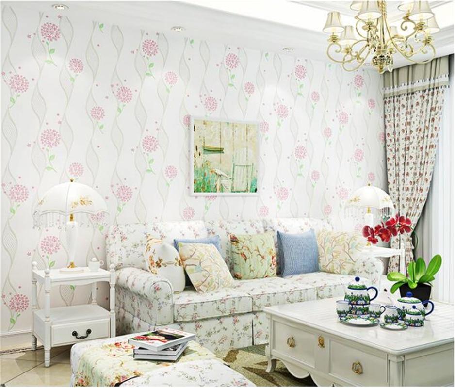 beibehang Korean pastoral nonwoven wallpaper warm childrens room girl dandelion wedding room romantic bedroom coined wall paper<br>