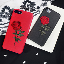 Elegant China Embroidery Retro Rose Case for iphone 6 6S 7 8 6Plus 6SP 7P 8plus Soft Phone Bag Housing Cover Shell for iPhone