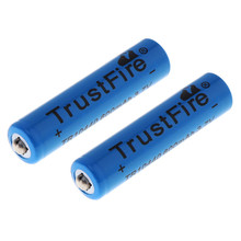 10PAIRS TrustFire 3.7V 10440 600mAh Li-ion Rechargeable Battery for LED Flashlights Headlamps with 1000 Cycle
