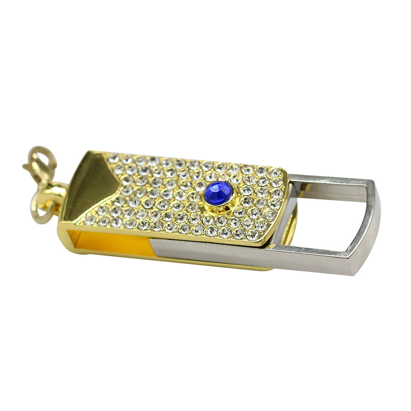 Metal Crystal Full Diamond Rotary Key Chain USB 2.0 Flash Drive 4GB 8GB 16GB 32GB 64GB 128GB Flash Disk Memory Stick Pendrive 35