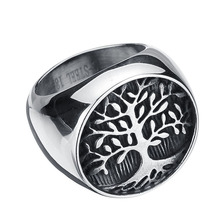 Stainless Steel Titanium Ring New Tree Of Life Rings For Men Jewelry Size 7-13(China)