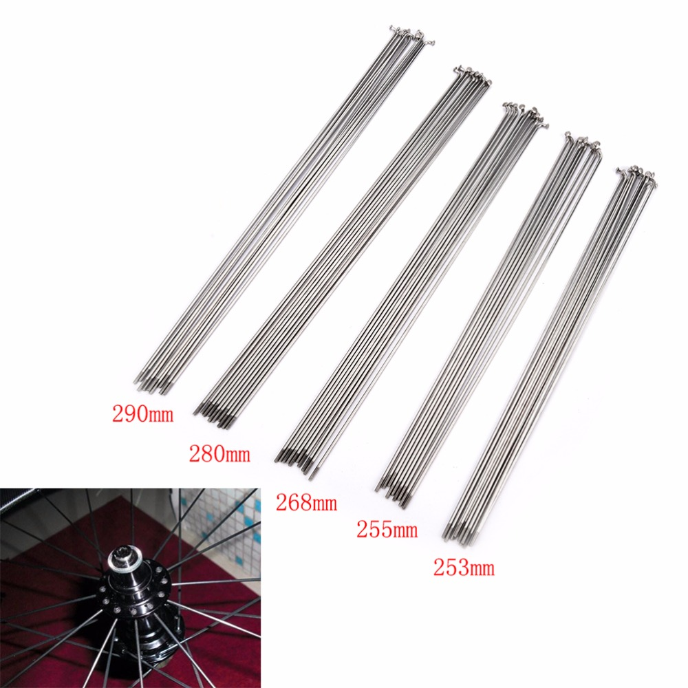 BLUE CHOOSE YOUR LENGTH 14G Stainless Steel Bicycle Spokes /& Nipples
