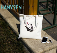 HANYSEN 2017 Hot Sale Summer No Face Male Printed Pattern Handbags Solid Fresh Art Model Shopping Bags Korean Style School Bags