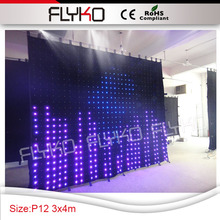 pixel led 12cm entertainment unit dj table booth stage background decoration 3m by 4m SD controller