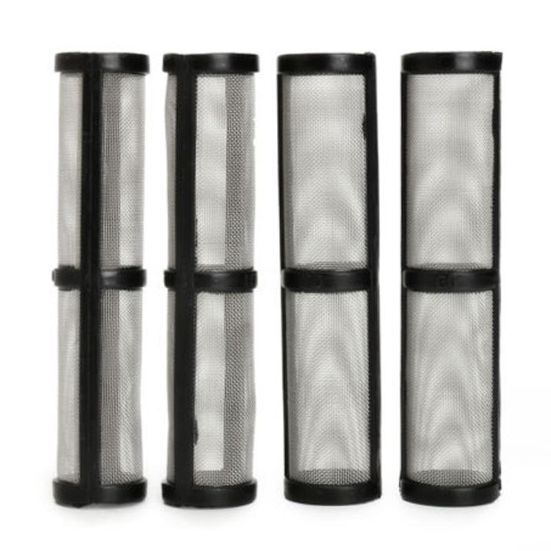 OSSIEAO 4PCS Black 60 Mesh Airless Spray Pump Filter For _Graco 390/395/495/595 Sprayer