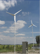 China ME3.2-1000W-LD 1kw Guy cable tower+Wind generator + controller + on grid inverter wind power system