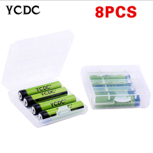 8pcs/pack YCDC Ni-MH AAA Battery 1000mAh Batteries Rechargeable Battery For LED Torches Digital Cameras+Portable Battery Box