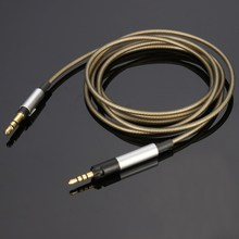 1.2m Gold-plated Headphone Cable For Sennheiser HD598 HD595 HD558 HD518 Headphones Audio Cable Core 3.5mm to 2.5mm