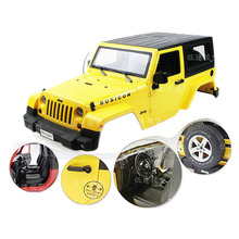 RC 1/10 Wrangler Yellow Red Climbing Modified 3 Doors Hard Body Shell Car Shell For Bigfoot AXIAL SCX10 D90 Tamiya CC01 Jeep