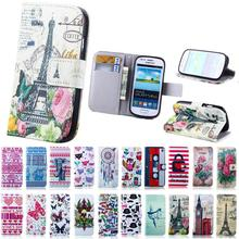 Flip Cover For Samsung Galaxy S3 mini i8190 PU Leather Phone Bag Case For Samsung S3 Mini Case Card Slot Stand Wallet Style